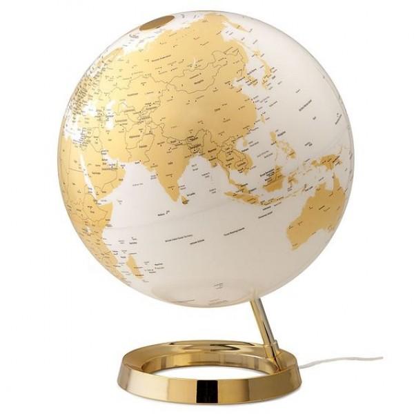 L&C Gold Işıklı Masaüstü Küre