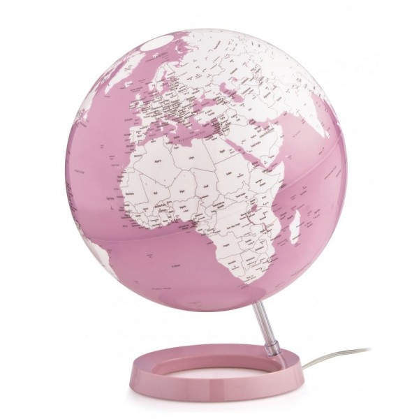 L&C Bright Pink Işıklı Masaüstü Küre